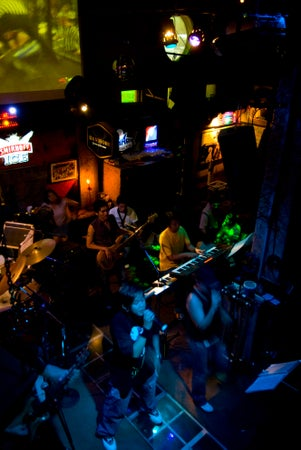 Band playing at Timber Hut bar, Phuket Town, Thailand