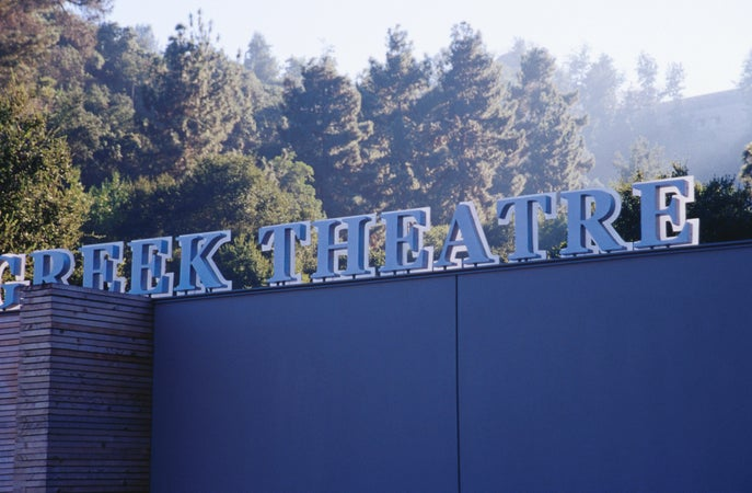 Sign for Greek Theatre, Los Angeles, USA
