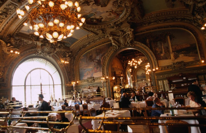 Interior of Le Train Bleu, Paris, France