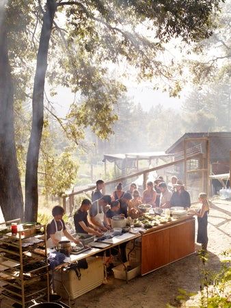 'Outstanding in the Field' cooking class at Lindencroft Farm, San Francisco, USA