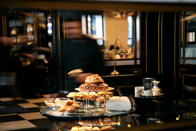 Patisserie trolley at The Wolseley, London