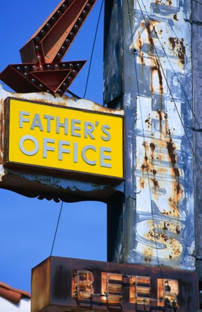 Father's Office near the beer shop in Santa Monica, Los Angeles, USA