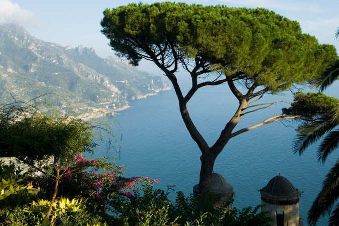 Gardens of Villa Rufolo on Amalfi Coast, Ravello, Italy
