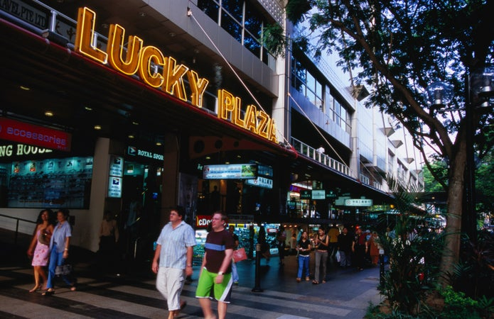 Lucky Plaza on Orchard Road, Singapore