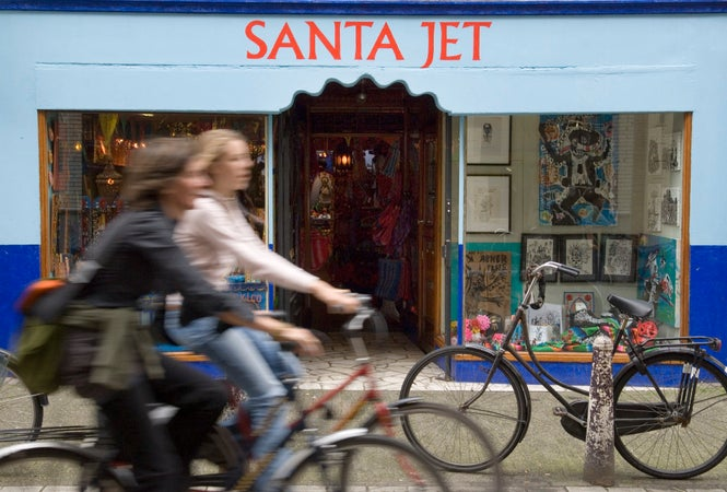 Santa Jet shop in the Nine Straatjes, Southern Canal Belt, Amsterdam, The Netherlands