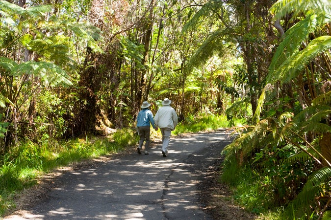 Walking near Kiauea Iki, HAVO, Hawaiʻi Volcanoes National Park & Around, USA