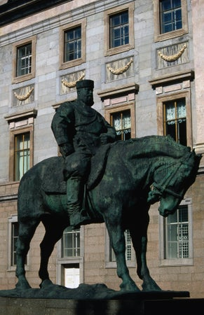 Equestrian statue of Alexander III in the courtyard of Marble Palace, St Petersburg, Russia