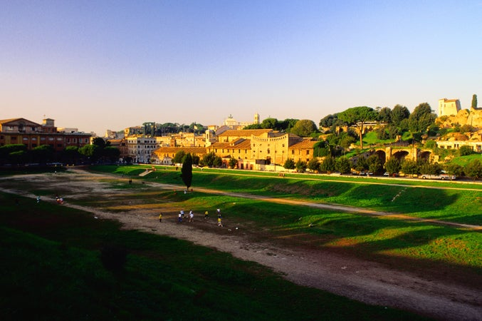 The Circo Massimo (Circus Maximus), an area which was once a chariot racetrack - Rome, Lazio, Rome, Italy