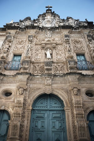 Facade of Cathedral of San Francisco, Salvador, Brazil