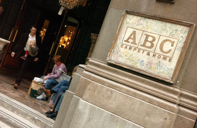 Shoppers outside ABC Carpet and Home, New York City, USA