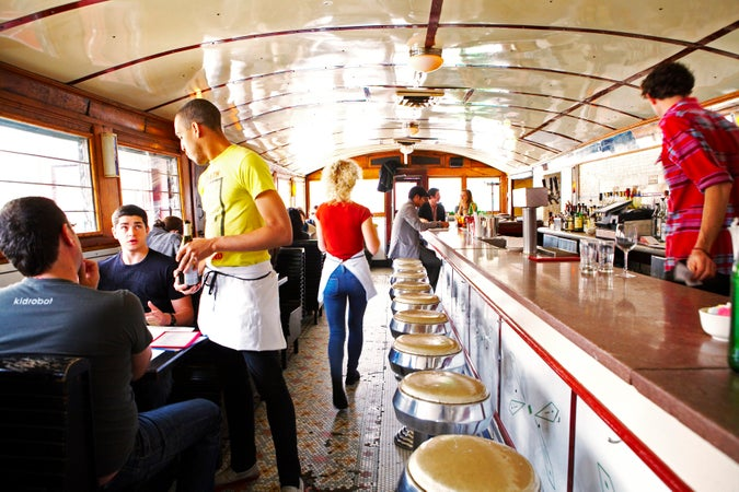Interior of The Diner, Brooklyn, New York City, USA