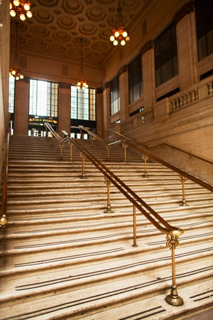 Staircase at Union Station, as featured in the film 'The Untouchables', Chicago, USA