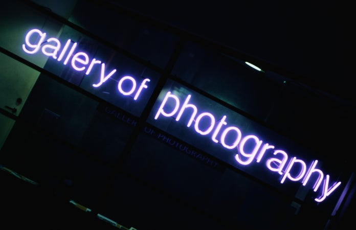 Temple Bar Gallery of Photography sign, Dublin, Ireland