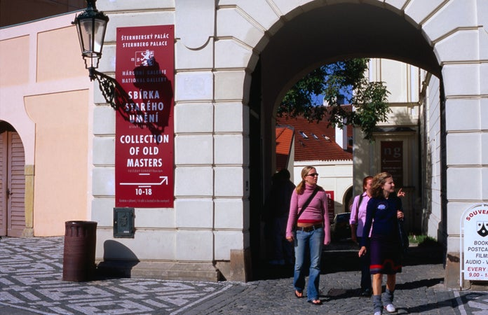 Entrance of National Gallery in Sternberg Palace, Prague, Czech Republic