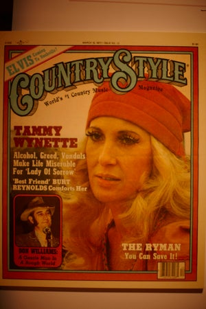 1977 edition of Country Style magazine at Country Music Hall of Fame, Nashville, USA