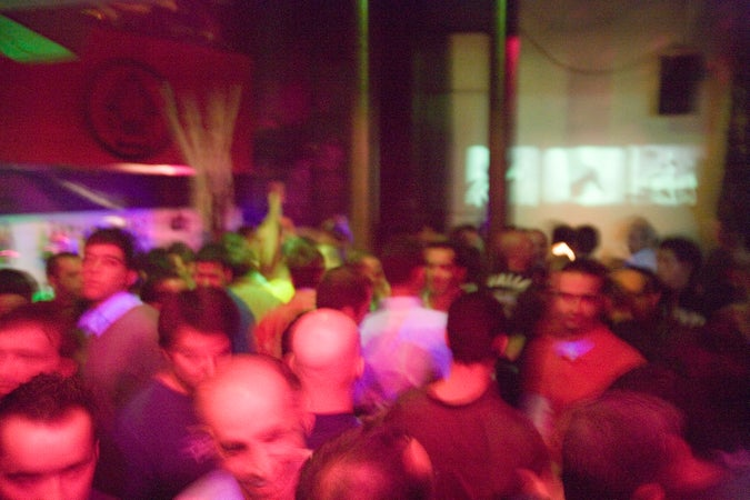 People dancing at Fragil Nightclub, Barrio Alto, Lisbon, Portugal