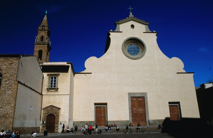 Church and Piazza of Santo Spirito, Florence, Italy