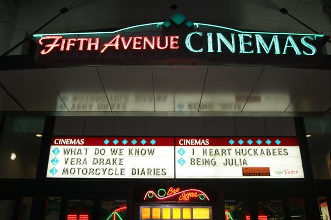 Fifth Avenue Cinemas sign, Kitsilano, Vancouver, Canada