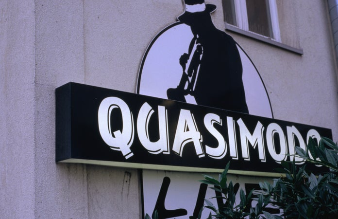 Sign of Quasimodo jazz club, Charlottenburg, Berlin, Germany