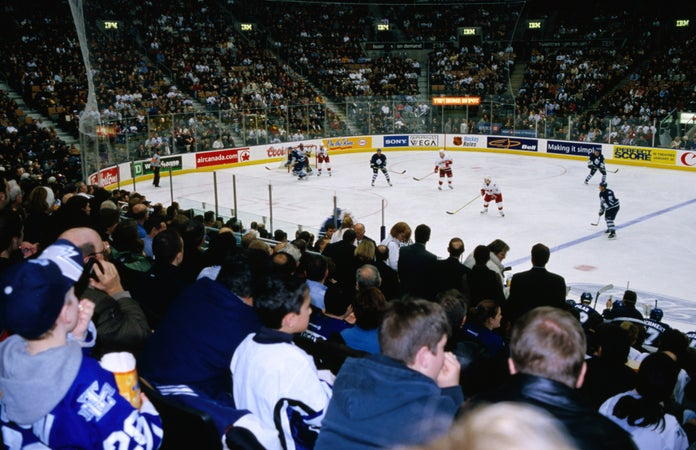 Toronto Maple Leafs ice hockey team playing at Air Canada Centre, Toronto, Canada