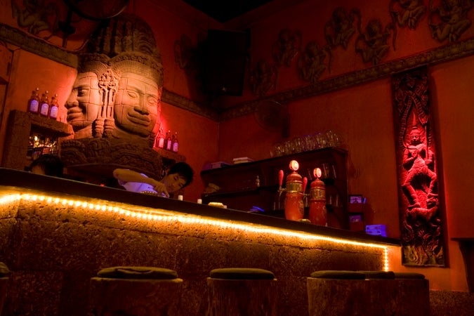 Interior of Temple Bar, Bar Street, Siem Reap, Cambodia