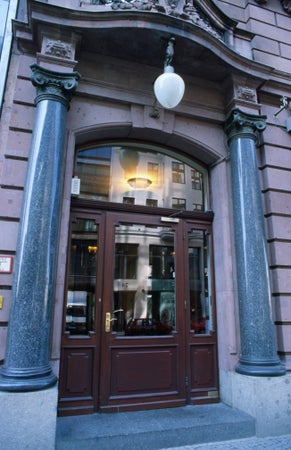 Entrance to Borchardt Restaurant, Mitte, Berlin, Germany