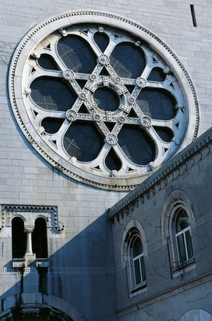 Rose window at Trieste's Synagogue, Trieste, Italy