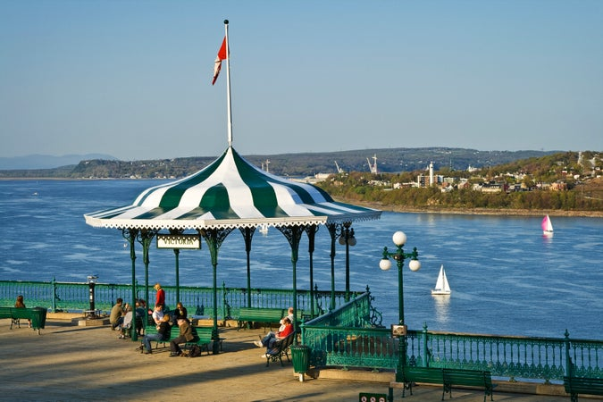 Terrasse Dufferin overlooking the St. Lawrence River, Québec City, Canada
