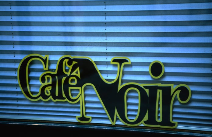 Cafe Noir sign, Venice, Italy