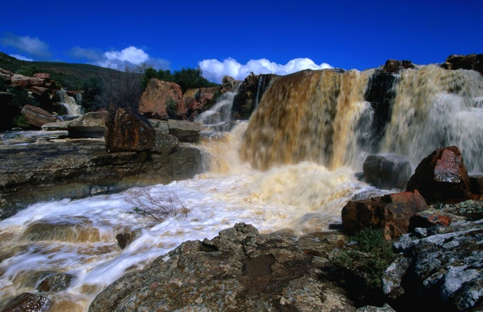 100m high Nieuwoudtville Falls on the Doring River, Calvinia, South Africa