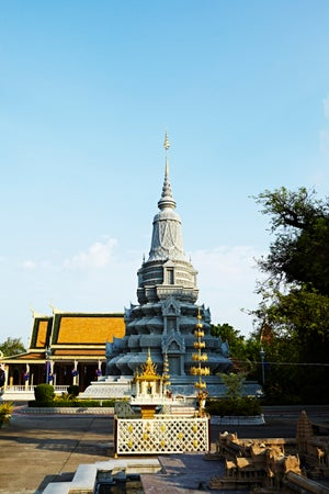 Silver Pagoda in grounds of Royal Palace, Phnom Penh, Cambodia