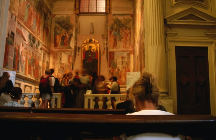 Frescoes of the Brancacci Chapel, Piazza del Carmine, Florence, Italy