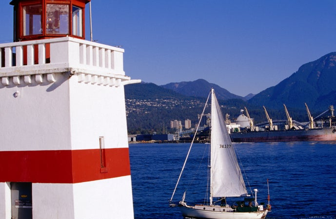 Brockton Point Lighthouse, Stanley Park, Vancouver, Canada
