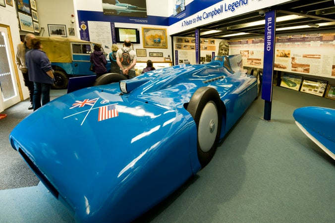 Car on display in Lakeland Motor Museum, Backbarrow, Windermere & Bowness-on-Windermere, United Kingdom