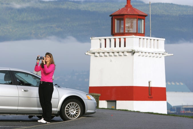Lighthouse parking lot on Prospect Point, Stanley Park. , Vancouver, Canada
