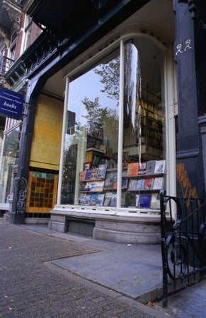 Architectura and Natura books on Leliegracht, Amsterdam, The Netherlands