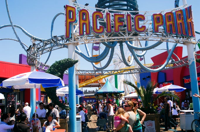 Pacific Park on Santa Monica Pier, Los Angeles, USA