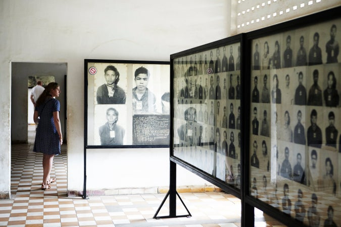 Photographs of inmates at Security Prison 21, Tuol Sleng Genocide Museum, Phnom Penh, Cambodia