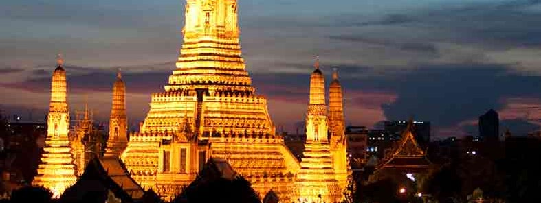 Wat Arun at Dusk by Mark Fischer