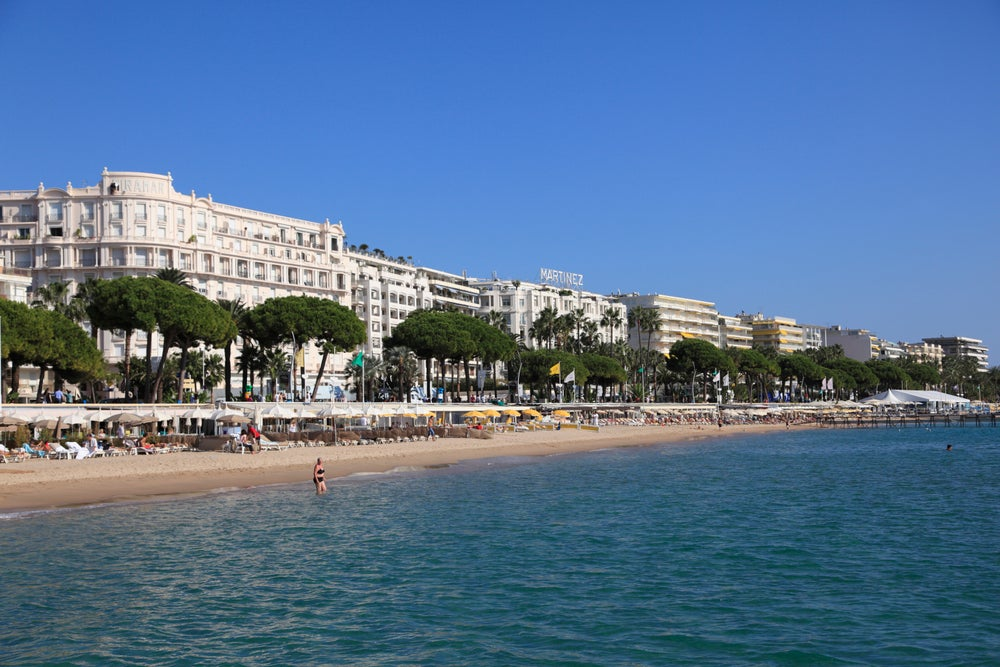 La Croisette in Cannes.