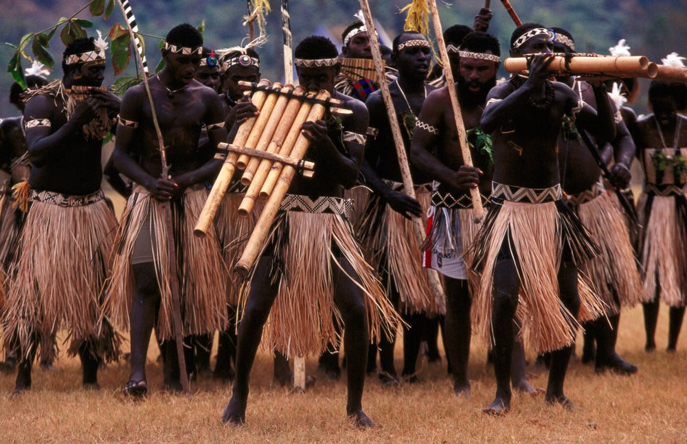 Panpipe group at Warwagira Festival.