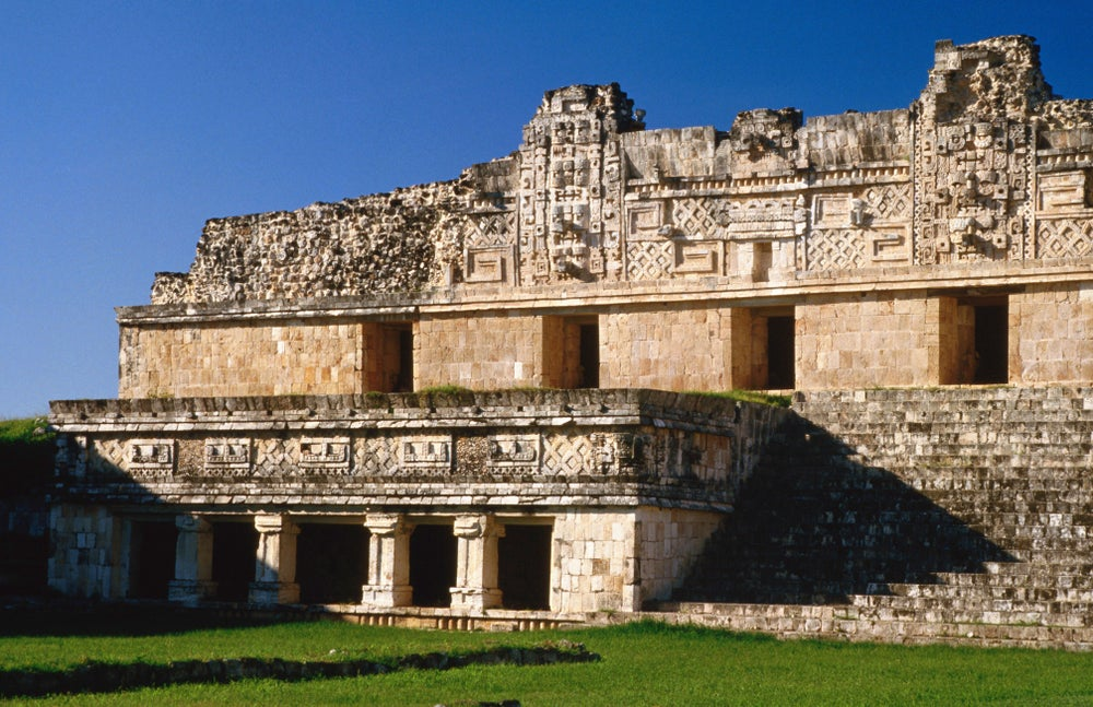 Ancient Mayan building now known as Quadrangle of the Nuns (Nunnery Quadrangle), UNESCO World Heritage Site.