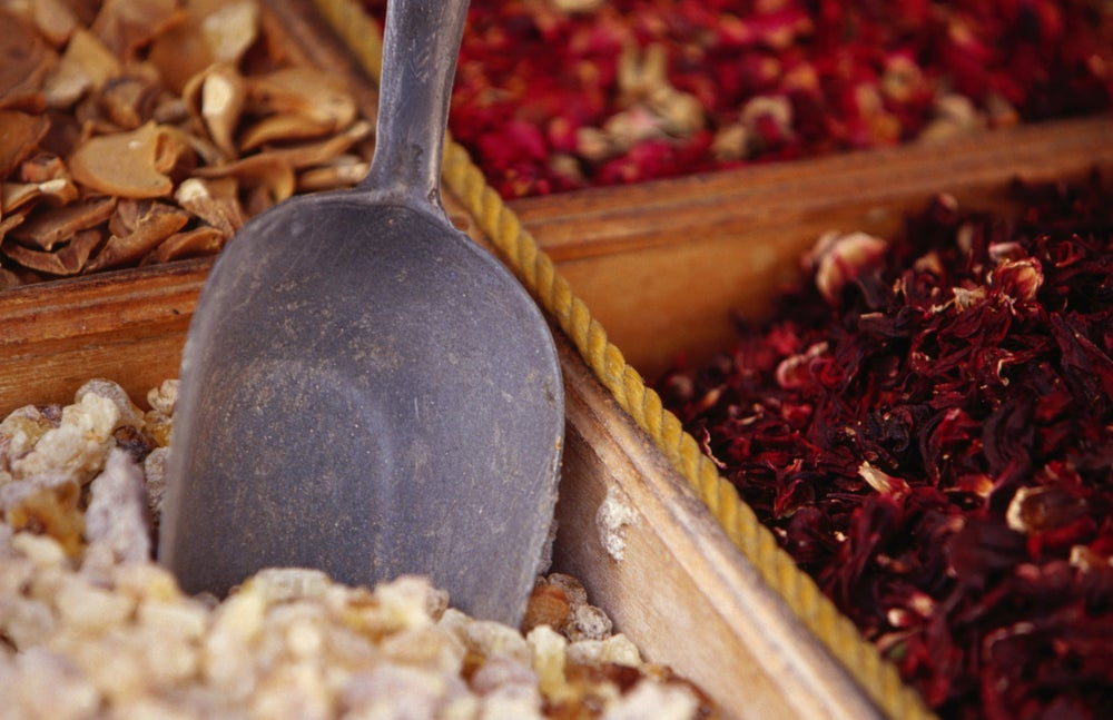 Herbs and spices at suq.