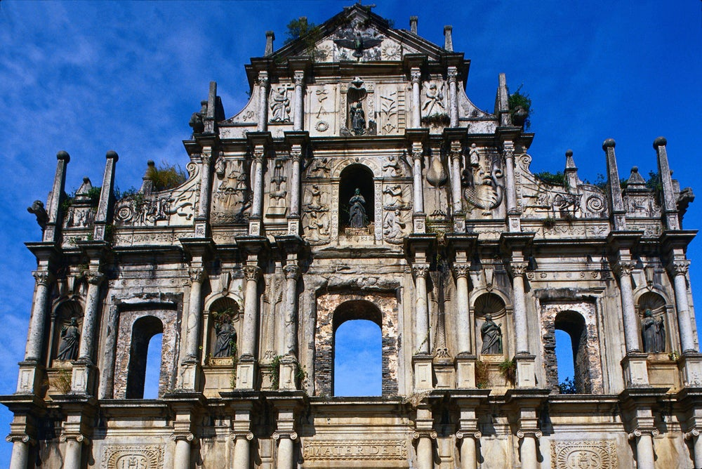 Facade of St Paul's Cathedral, Macau