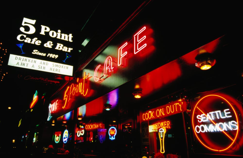 Exterior of The 5 Point Cafe and Bar.