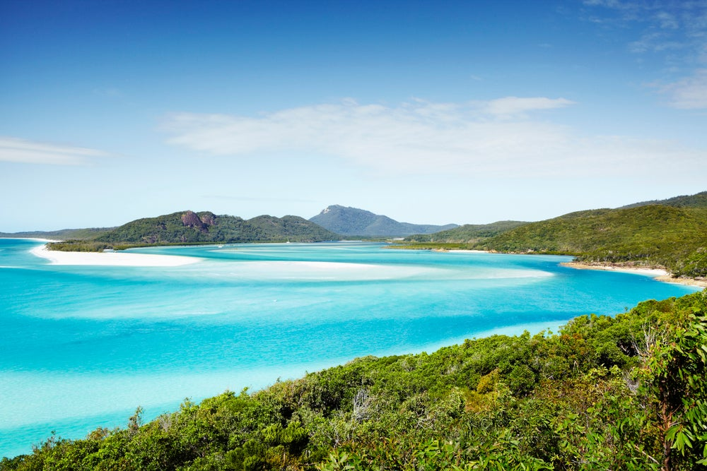 Overview of Whitehaven Beach.