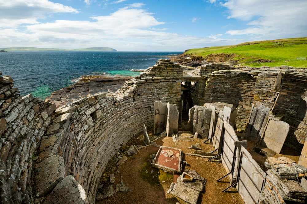 Midhowe cairn and broch, Rousay.